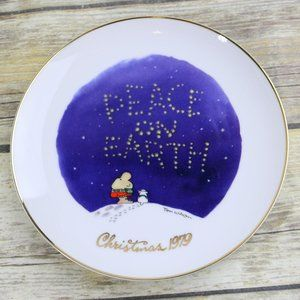 Ziggy Christmas 1979 Plate Peace On Earth In Box